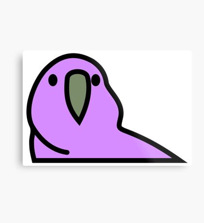 PartyParrot - Purple Metal Print