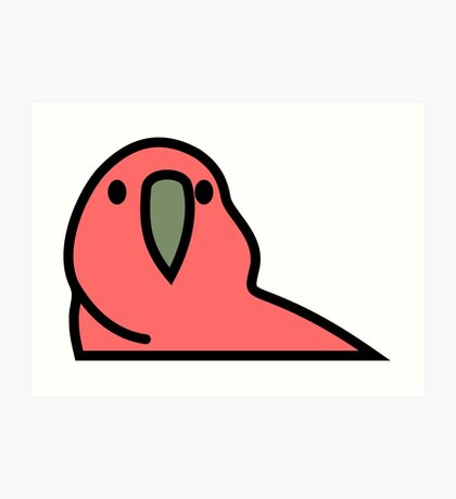 PartyParrot - Red Art Print