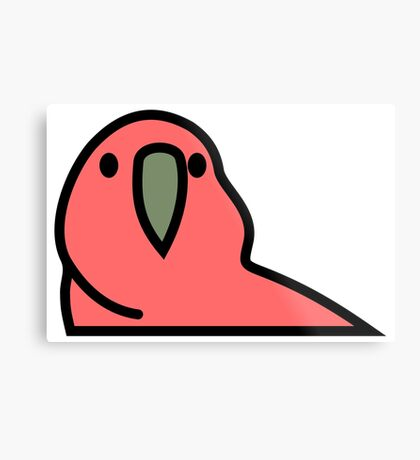 PartyParrot - Red Metal Print