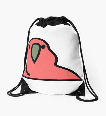 PartyParrot - Red Drawstring Bag