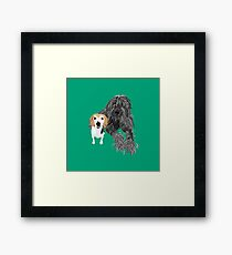 Max and Jimmy Framed Print