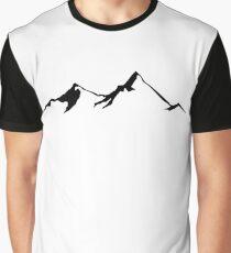 Ski Skiing Mountain Mountains Skiing Skis Silhouette Snowboard Snowboarding Graphic T-Shirt
