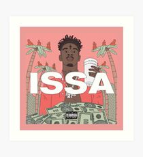 ISSA - The 21 Savage Art Print