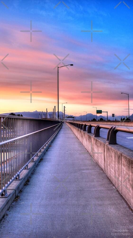 Golden Ears Bridge Sunset by Erniesartwork