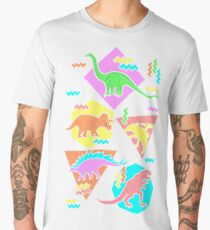Nineties Dinosaurs Pattern Men's Premium T-Shirt