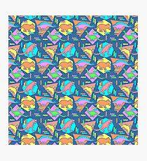 Nineties Dinosaurs Pattern Photographic Print