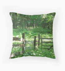 Woods in Grant City Throw Pillow
