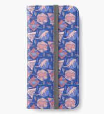90's Dinosaur Pattern - Rose Quartz and Serenity version iPhone Wallet/Case/Skin