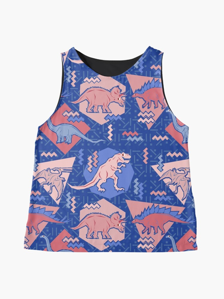 Alternate view of 90's Dinosaur Pattern - Rose Quartz and Serenity version Sleeveless Top