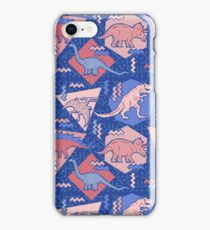 90's Dinosaur Pattern - Rose Quartz and Serenity version iPhone Case/Skin