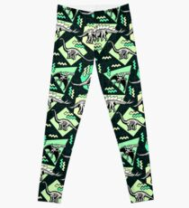 Neon Skeleton Dinosaur Pattern Leggings