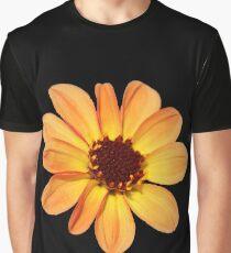 Yellow and Orange Dahlia Graphic T-Shirt