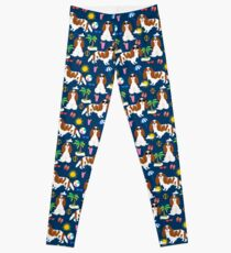 Cavalier King Charles Spaniel beach day tropical vacation socal sunshine by PetFriendly Leggings