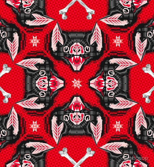 Bat Head Pattern by chobopop