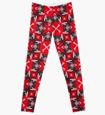 Bat Head Pattern Leggings