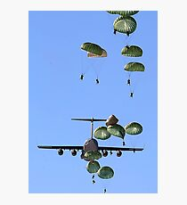 Military Parachutes Photographic Print
