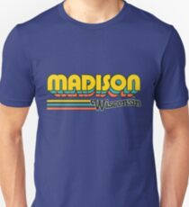 Madison, WI | City Stripes Unisex T-Shirt