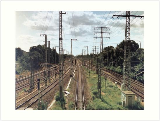 """Railways and pylons by Giacomo """"Big Jack"""" Lanzi"""