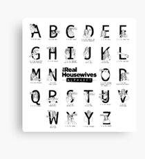 The Real Housewives Alphabet Canvas Print