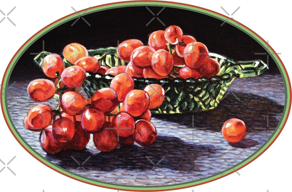 Red Grapes Bunch by Kenneth Cobb
