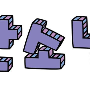 방탄소년단 - BTS - Typography (purple) by piala