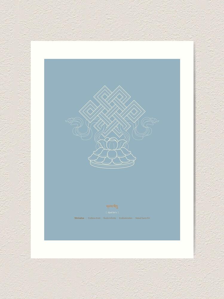 Alternate view of Shrivatsa – Endless Knot Art Print