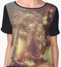 Vintage motorcycle Chiffon Top