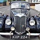 Old British Riley Car  by Remo Kurka