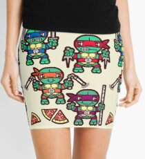 Teenage Turtle Pizza Party Mini Skirt