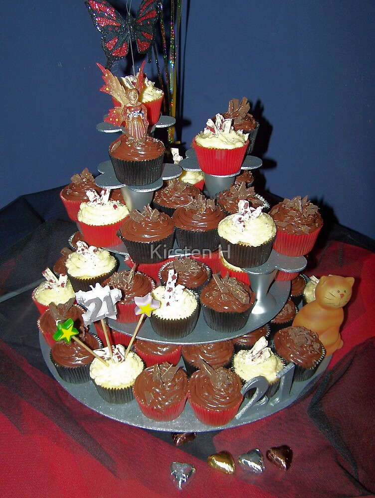 Tower of Cupcakes by Kirsten H
