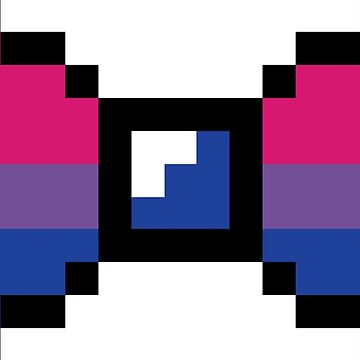 Bisexual Pixel Bow by 3nvy