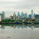 Philadelphia Skyline Post Card by RockyWalley