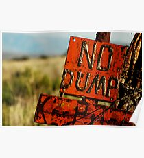 No Dump - Protect the Environment Poster