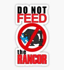 feed the rancor Sticker