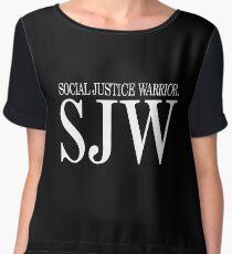 SJW (WHITE) Chiffon Top