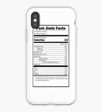 Nutrition Facts: BTS Jimin- iPhone Ver iPhone Case