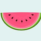 Pink Watermelon Slice by Prettyinpinks
