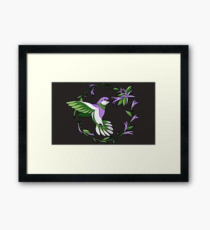 Pride Birds - Genderqueer Framed Print