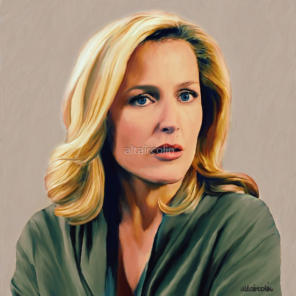 Stella Gibson in oil colors by altaircolin