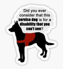 Service Dogs for Invisible Disabilities Sticker