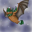 Slytherin Inspired Winter Bat by jambammer