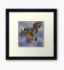 Slytherin Inspired Winter Bat Framed Print