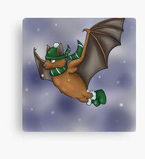 Slytherin Inspired Winter Bat Canvas Print