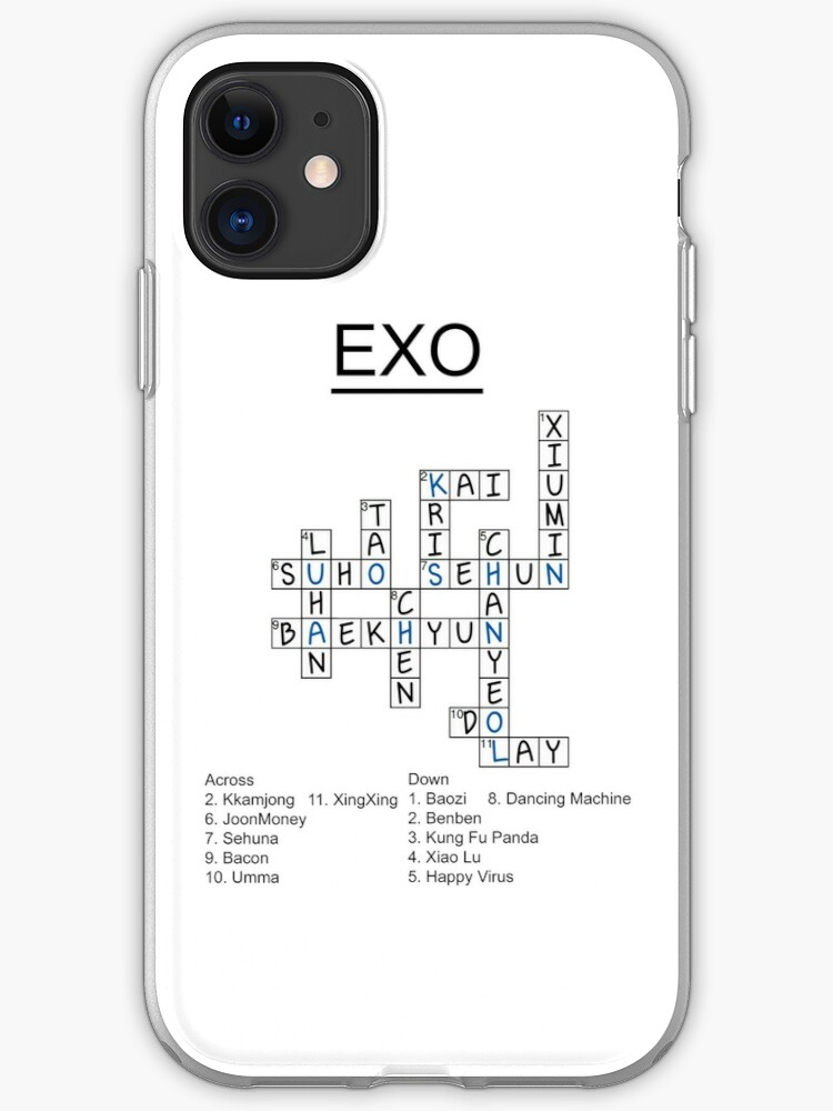Exo Crossword Puzzle Iphone Case Cover By Nitewalker314 Redbubble