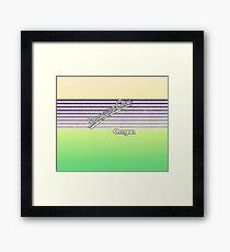 Smuggler Cove, Oregon | Surf Stripes Framed Print