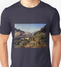 Ferdinand Georg Waldmüller Mountains of Arco at Riva T-Shirt