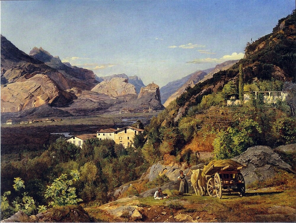 Ferdinand Georg Waldmüller Mountains of Arco at Riva by pdgraphics