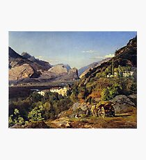 Ferdinand Georg Waldmüller Mountains of Arco at Riva Photographic Print