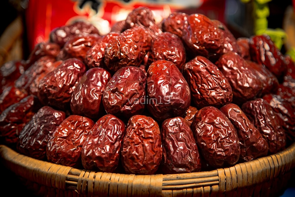 China. Xian. At the Market. Chinese Dates. by vadim19