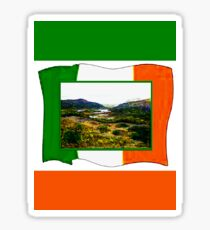 jGibney Ireland 1999 Kerry Lake District Ireland Flag T-Shirt wb The MUSEUM Red Bubble Gifts Sticker